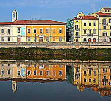 Pisa, reflections of the River Arno by orsinico