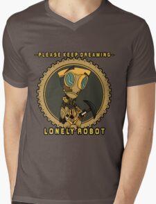 Lonely Robot: Digging Wanderer Mens V-Neck T-Shirt