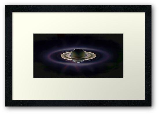 Saturn Eclipse by Benedikt Amrhein