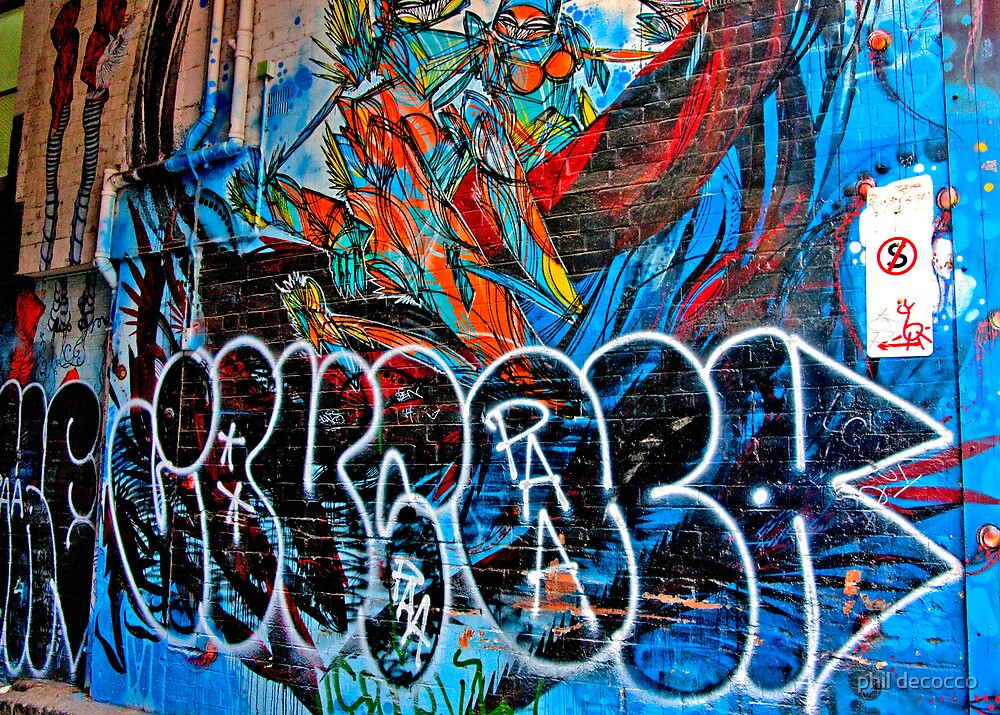 Melbourne Wall Art by phil decocco