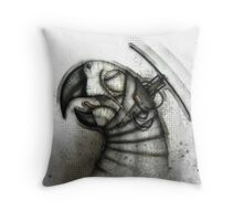 Heliparrot Throw Pillow
