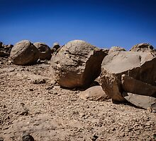 Israel, Negev. The Bulbus rock field in front of Mount Zin by PhotoStock-Isra