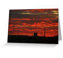 sunset over prague Greeting Card