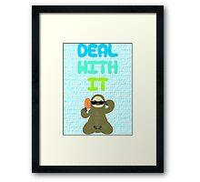 Deal With It Sloth Framed Print