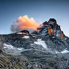 First Light on The Matterhorn by hebrideslight