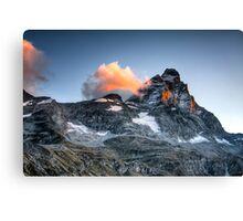 First Light on The Matterhorn Canvas Print