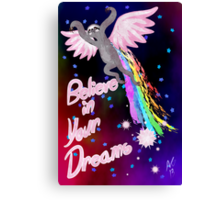 Believe In Your Dreams Sloth Canvas Print