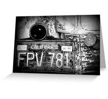 A Ford and Foggy Windows Greeting Card