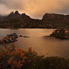 Evening Glow - Lake Elysia Tasmania by Mark Shean