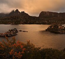 Evening Glow - Lake Elysia Tasmania by Mark Shean