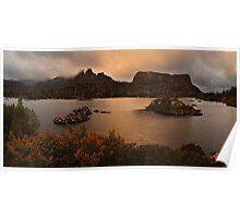 Evening Glow - Lake Elysia Tasmania Poster
