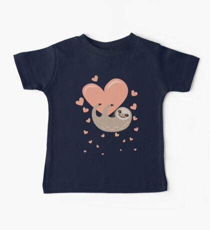 Hanging from your Heart Sloth Baby Tee