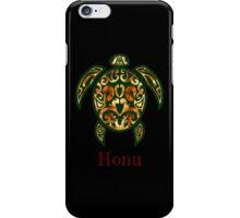 Golden Hawaiian Green Sea Turtle on Black iPhone Case/Skin