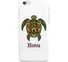 Golden Hawaiian Green Sea Turtle on White iPhone Case/Skin