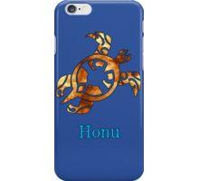 Golden Hawaiian Sea Turtle on Ocean Blue iPhone Case/Skin