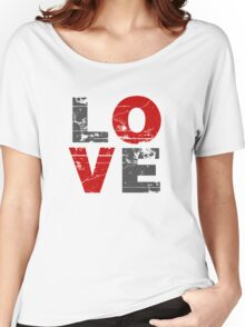 Love Distressed Valentines Day Women's Relaxed Fit T-Shirt