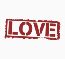 Love Stamp Valentines Day Kids Clothes