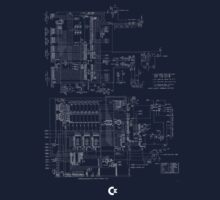 commodore 64 schematics by Francesco Gallarotti