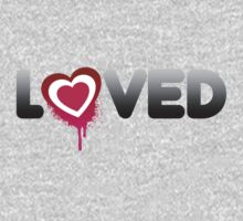 Loved Valentines Heart Graffiti Kids Clothes