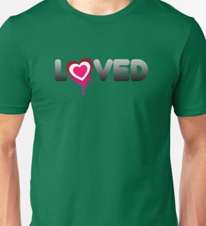 Loved Valentines Heart Graffiti Unisex T-Shirt