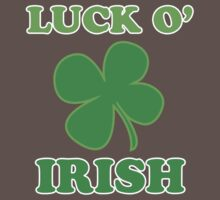 Luck O' Irish Lucky Clover St Patricks Day Baby Tee