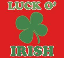 Luck O' Irish Lucky Clover St Patricks Day Kids Clothes