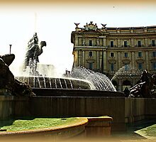 Rome Fountain dell'Esedra by orsinico