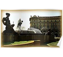 Rome Fountain dell'Esedra Poster