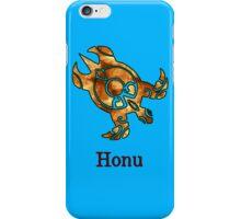 Tribal Hawaiian Golden Sea Turtle on Ocean Blue iPhone Case/Skin