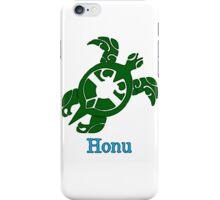 Tribal Hawaiian Green Sea Turtle on White iPhone Case/Skin