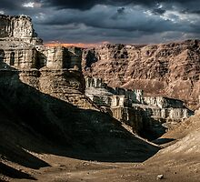 Digitally manipulated image, Israel, Judaea Desert by PhotoStock-Isra