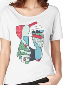 colorful foot and hand Women's Relaxed Fit T-Shirt