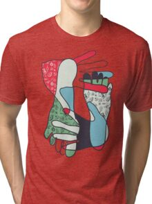 colorful foot and hand Tri-blend T-Shirt