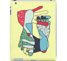 colorful foot and hand iPad Case/Skin