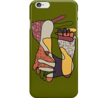 colorful foot and hand iPhone Case/Skin