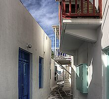 Mykonos Balcony by Tom Gomez