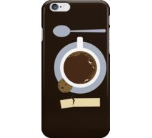image of a cup of coffee, sugar, spoons and cookies iPhone Case/Skin