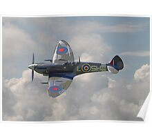 Spitfire - in flight Poster