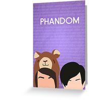 Phandom Poster (Purple) Greeting Card