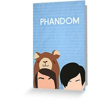 Phandom Poster (Blue) Greeting Card