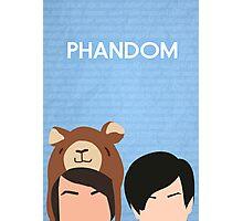 Phandom Poster (Blue) Photographic Print