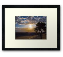 Barmouth Beach Sunset Framed Print