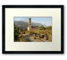 BMW R75 in the Italian Alps Framed Print