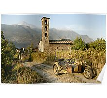 BMW R75 in the Italian Alps Poster