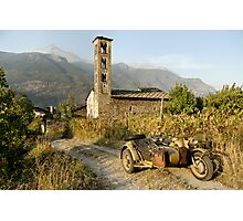 BMW R75 in the Italian Alps Photographic Print
