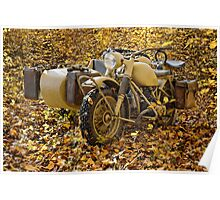 BMW R75 in autumn Poster