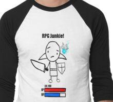 RPG Junkie! Men's Baseball ¾ T-Shirt