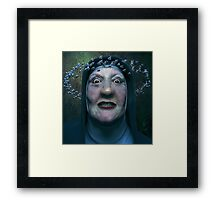 Blue Nun Framed Print