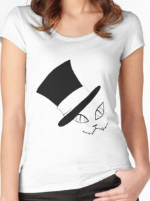 Cheshire Cat in the Hat Women's Fitted Scoop T-Shirt