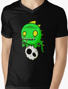 Dino Skull Mens V-Neck T-Shirt